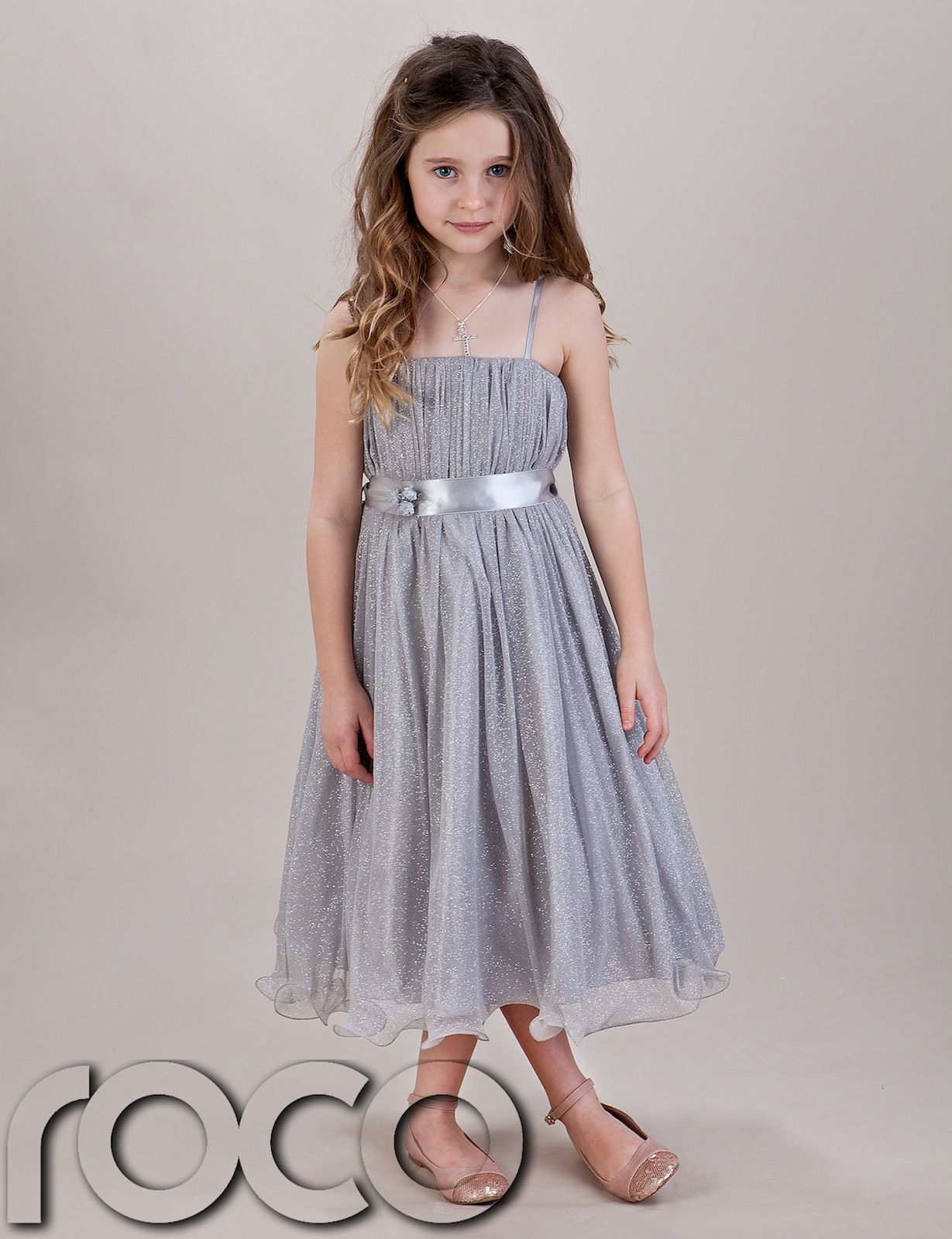 Details About Girls Silver Hoop Dress Bridesmaid Prom Wedding