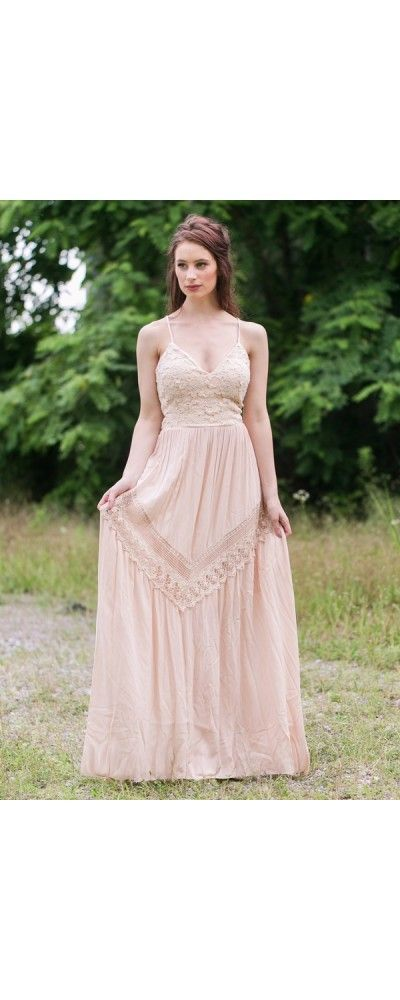 2a7d46b63 Lily Boutique Prairie Fairy Open Back Lace Maxi Dress in Cream/Beige, $60 Beige  Open Back Maxi Dress, Cute Boho Maxi Dress, Beige Summer Dress ...
