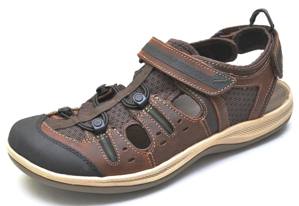 483d284359f Clarks Wave Walk WAVE.ROAM Brown Fisherman Sandals Shoes Men s 12 - NEW -  63423  Clarks  Fisherman