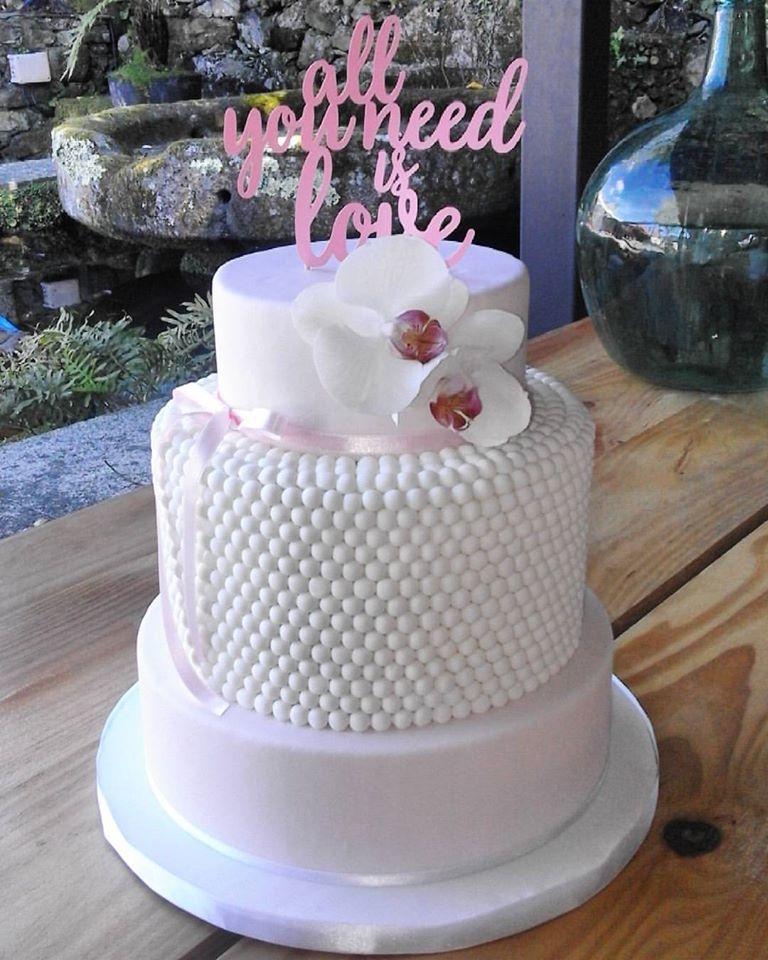 Wedding Cake. The Moon Cake Bakery.