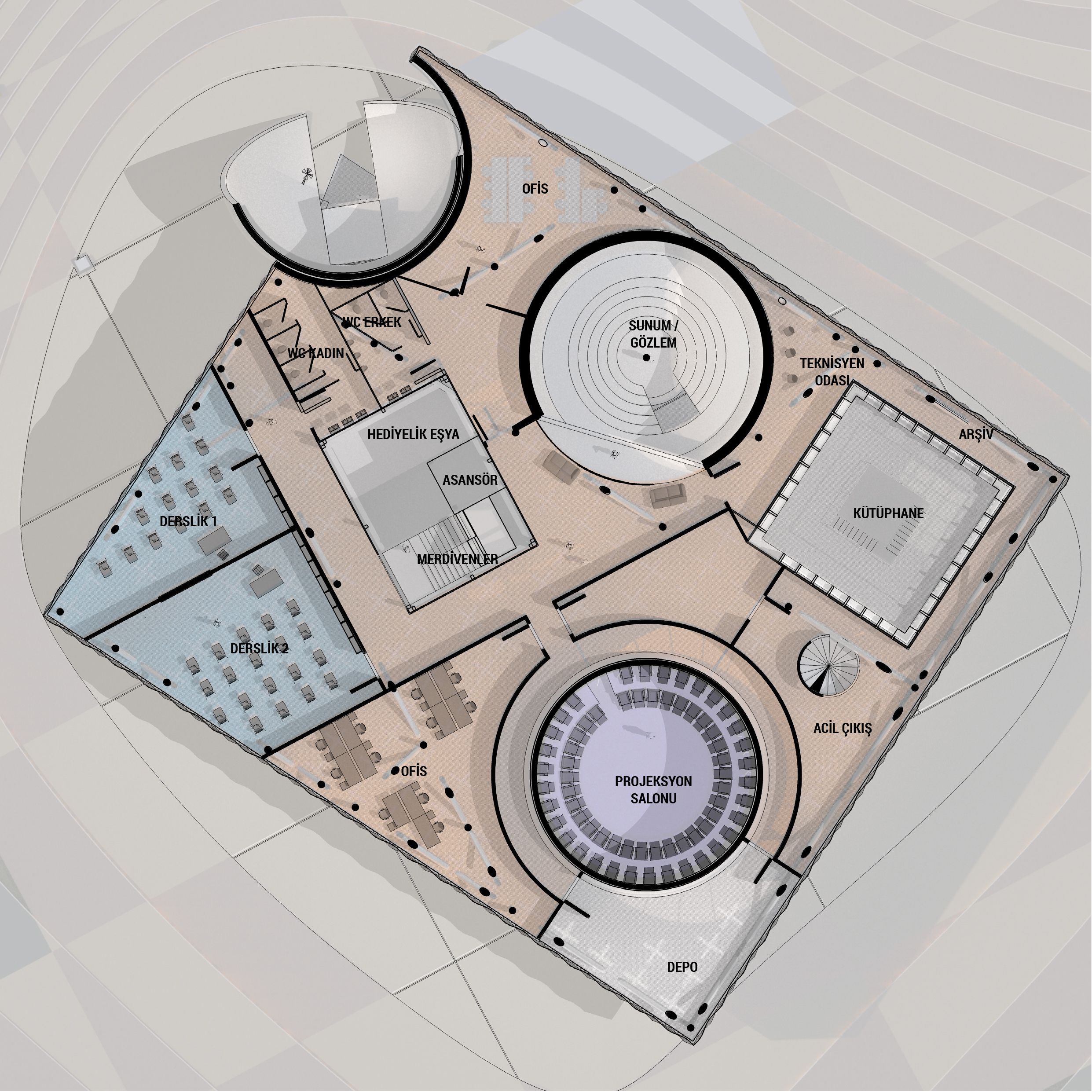 Kirsehir Planetarium Competition Entry by Building Office (2016) Design by Aras Burak