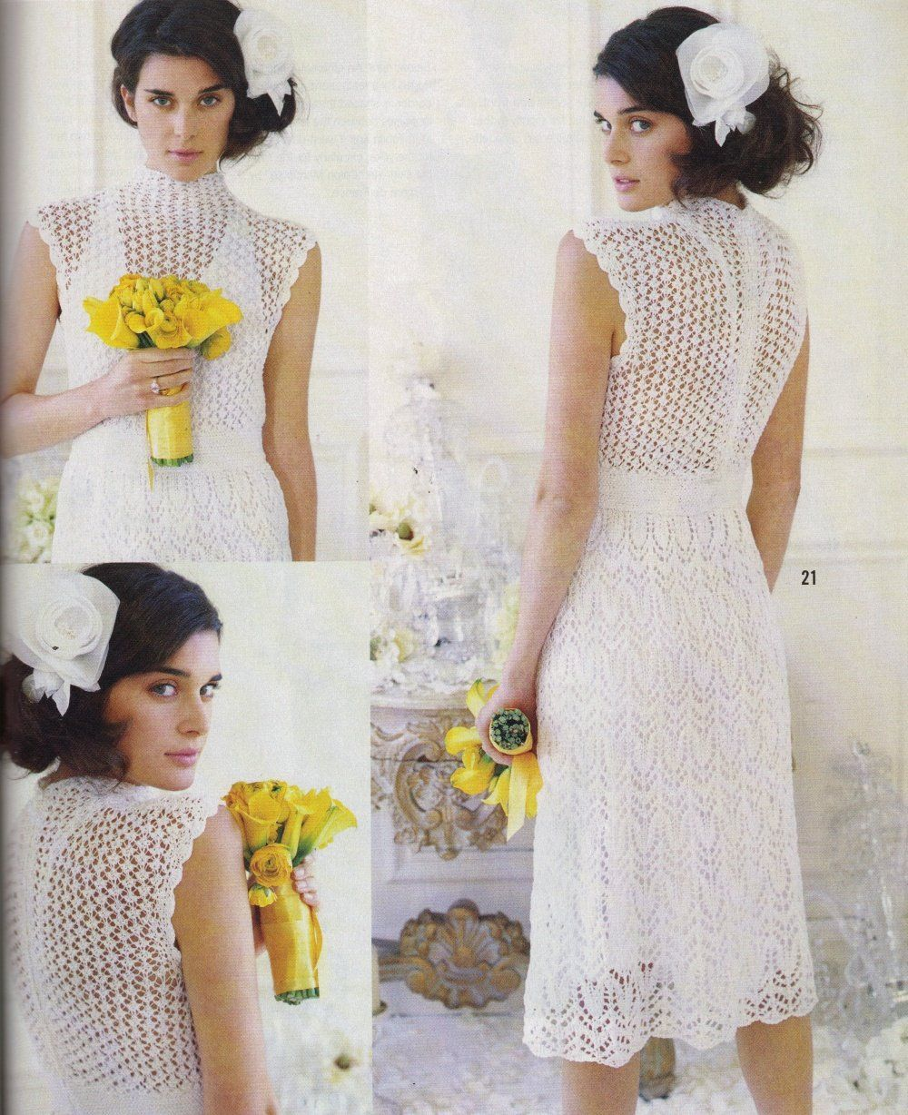 Vogue knitting knitted lace dress pinterest knit lace and lace