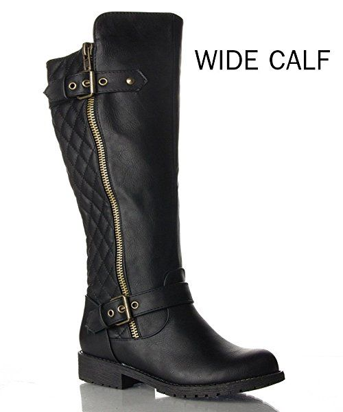ROF Vivienne WIDE CALF Motorcycle Boots