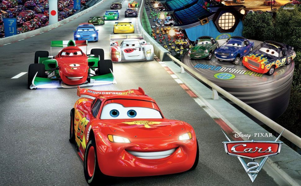 Cars 2 Hd Wallpaper Race Track Lightning Mcqueen Car Cartoon