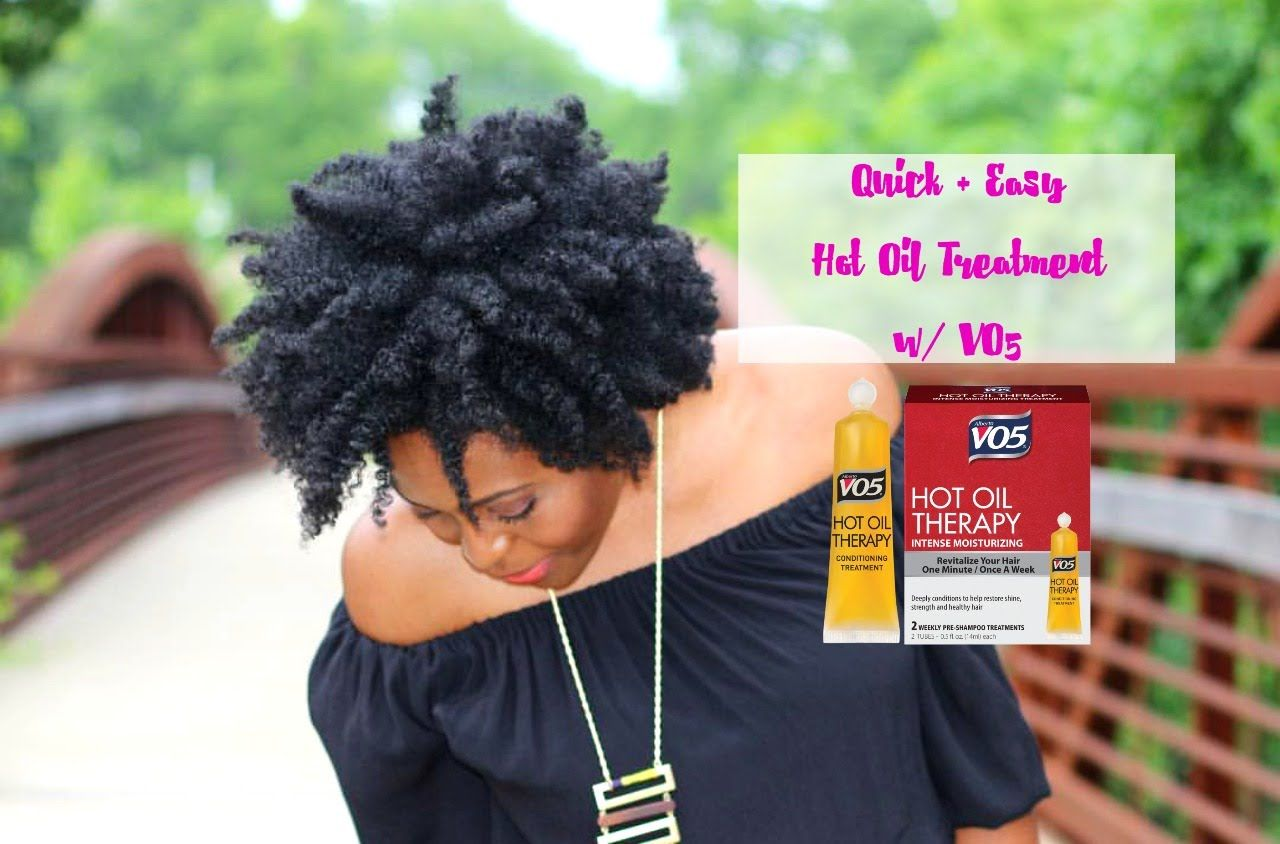 Hot to Get Soft, Shinier Natural Hair in 5 Minutes - VO5 Hot Oil Treatme...