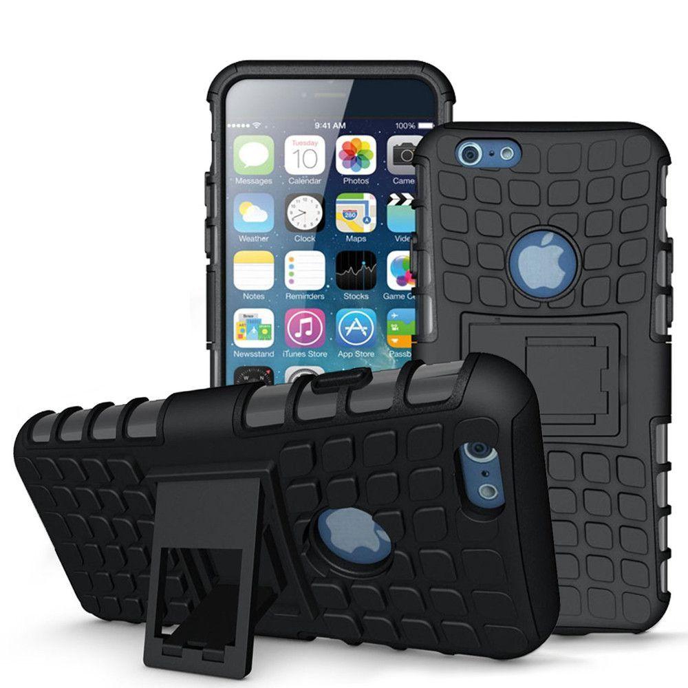 Iphone 6 6s plus tpu slim rugged hybrid stand case cover