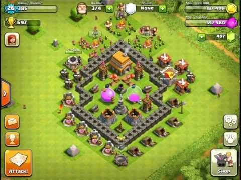 Clash Of Clans Town Hall Level 5 Best Defense Strategy Clash Of Clans Town Hall Clash On Clans