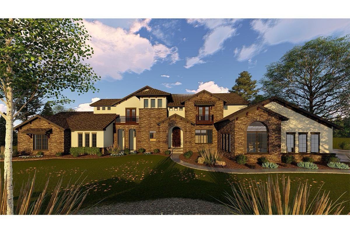 House Plan 963 00253 Luxury Plan 5 865 Square Feet 5 Bedrooms 3 5 Bathrooms Luxury House Plans Mediterranean Homes Luxury Plan