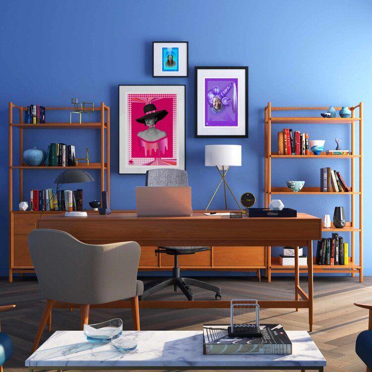 Pink Expression Art Poster Projeto De Home Office Decoracao De