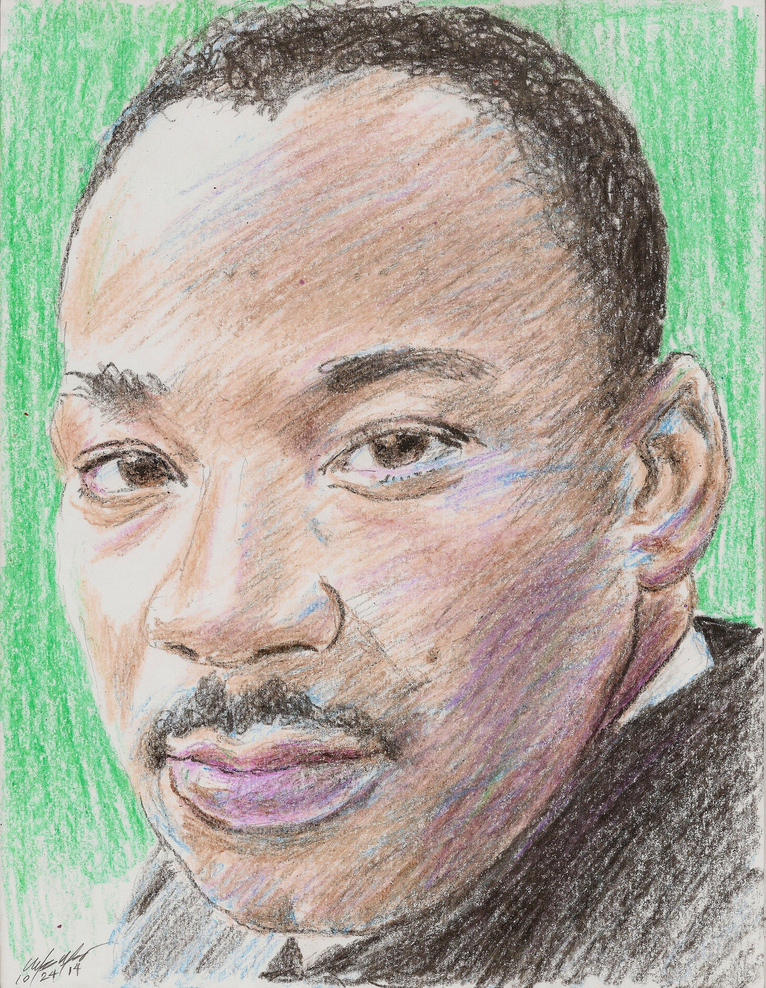 my crayons drawing of the Reverend Dr Martin Luther King Jr ...