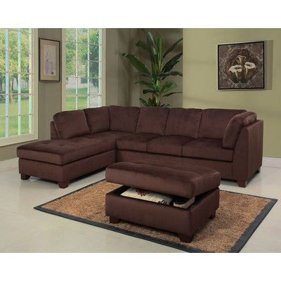 Fine 1 799 Abbyson Living Deana Sectional And Ottoman Inzonedesignstudio Interior Chair Design Inzonedesignstudiocom