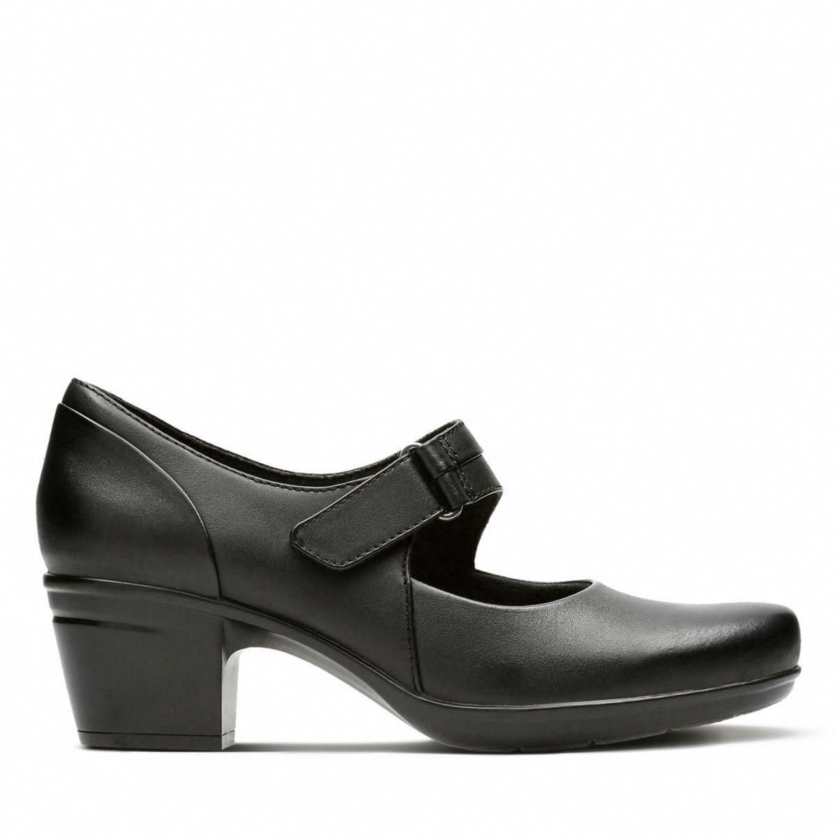 f6c1a584f Clarks Emslie Lulin - Womens Shoes Black Leather 8.5 E (Wide) Out Of Stock   womensshoes  NikeWomensshoes6Pm