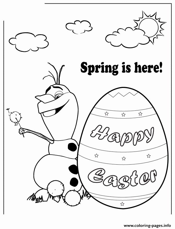 Spring Easter Coloring Pages Lovely Disney Frozen Olaf Spring Easter Colouring Page Coloring