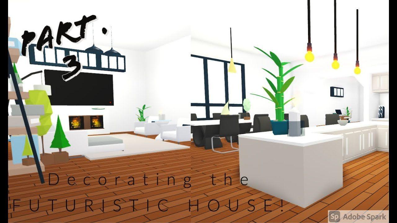 Decorating The Futuristic House Roblox Adopt Me Part 3 Youtube Home Roblox Futuristic House Cool House Designs