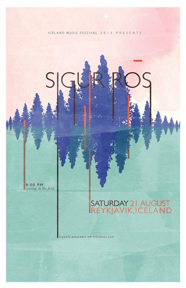 Sigur Ros Music Festival Poster on Behance