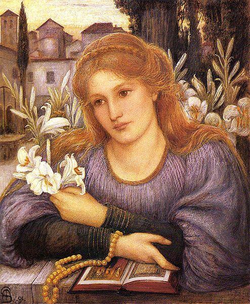 Marie Spartali Stillman - Convent Lily - 1891