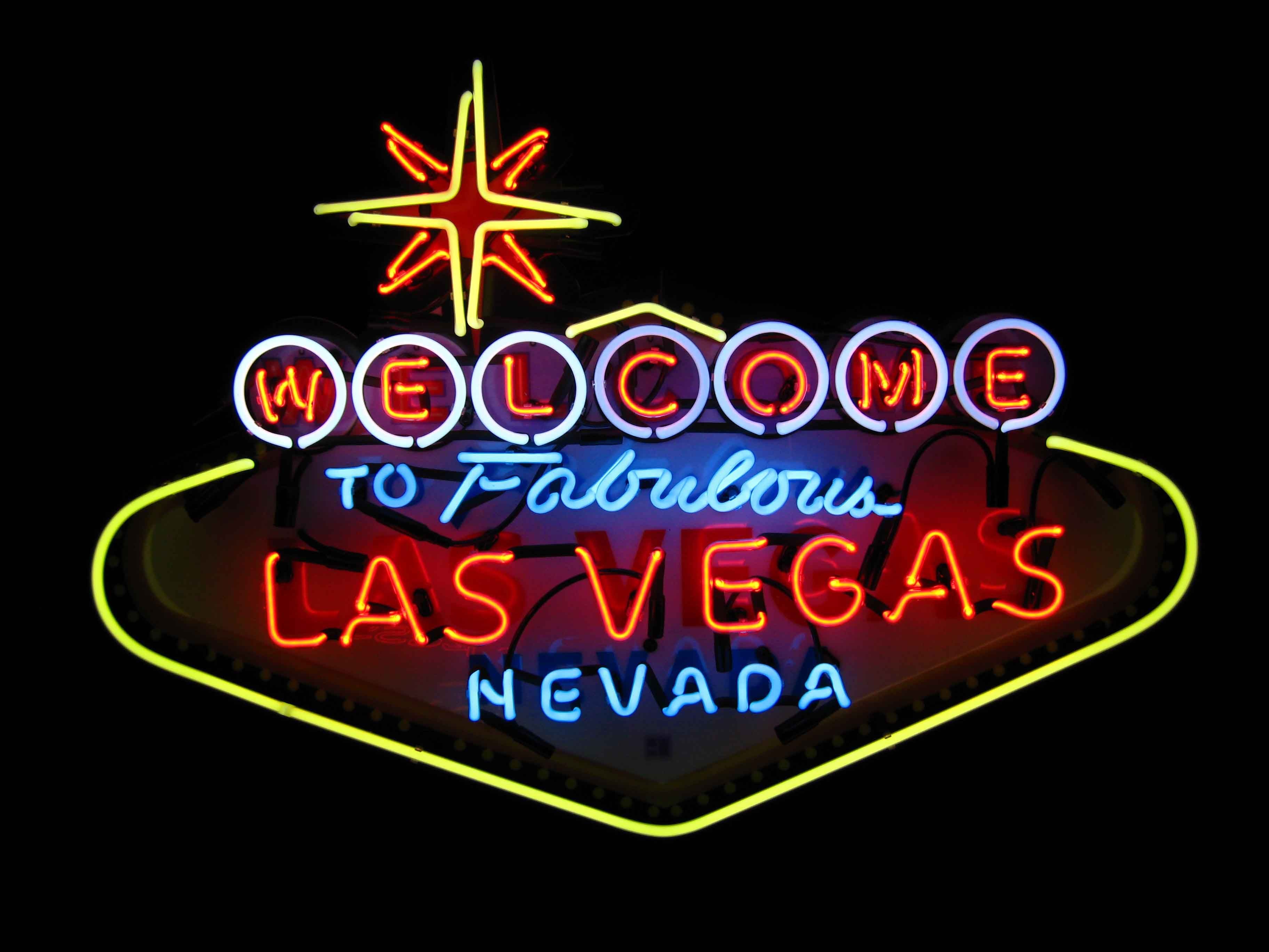 Stock footage welcome to fabulous las vegas sign with flashing lights - Welcome To Vegas Sign Night