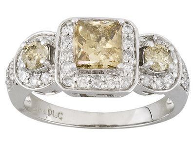 Jtv Diamond Rings >> 14k Champagne And White Diamond Ring Jtv Com Unique