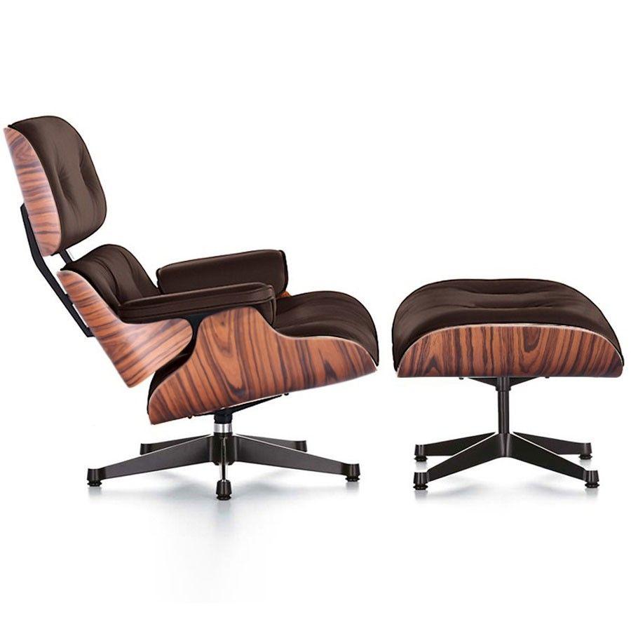 Eames Style Lounge Chair Ottoman Brown Worldmoderndesign Com
