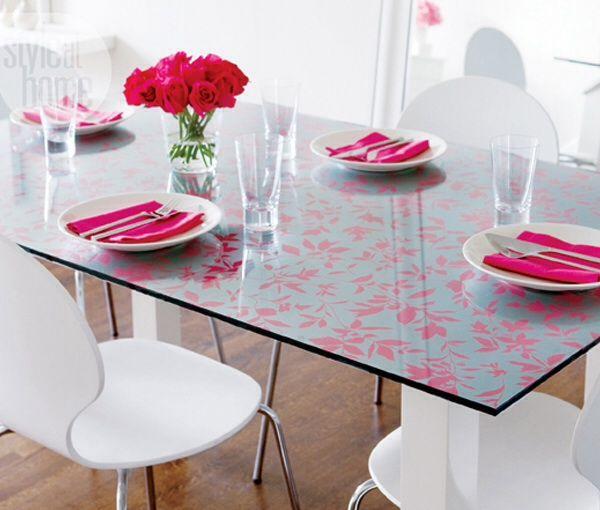 Dining Table Sticker Diy Wallpaper Wallpaper Project Glass