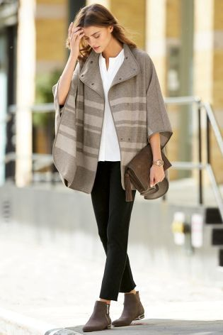 Buy Neutral Cape Coat online today at Next: United States of America