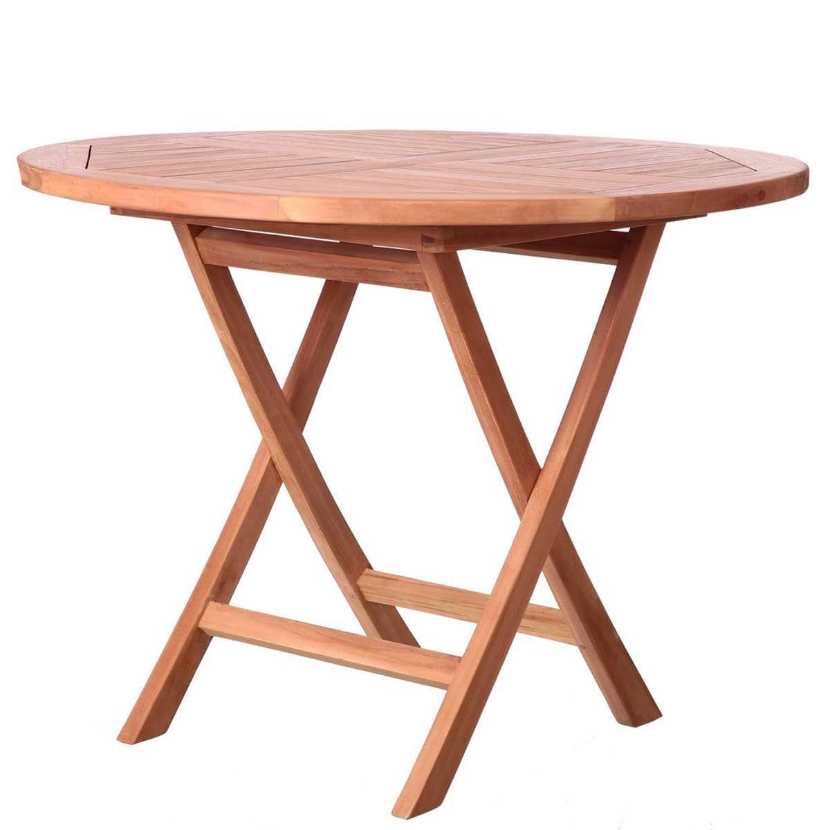 table ronde pliante en teck