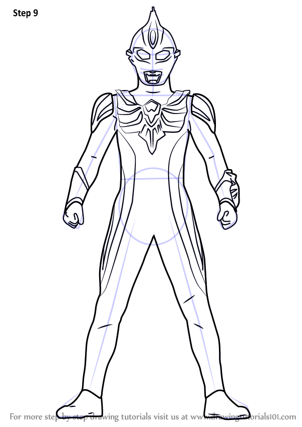 Learn How To Draw Ultraman Max Ultraman Step By Step Drawing