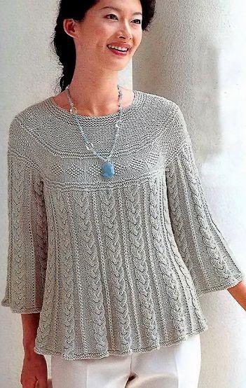 agujas de tejer túnicas | пуловер | Pinterest | Agujas de tejer ...