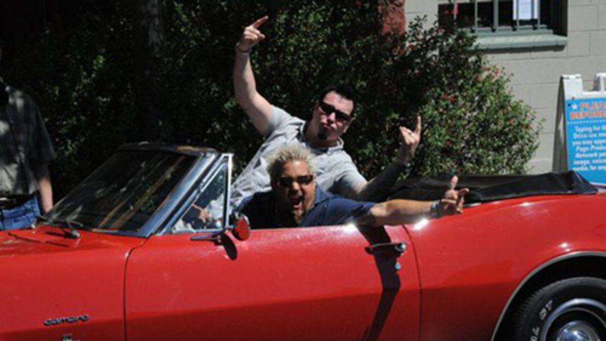 Smash Mouth Guy Fieri And Sammy Hagar Team Up For Awful Cookbook Guy Fieri Guys Create A Cookbook