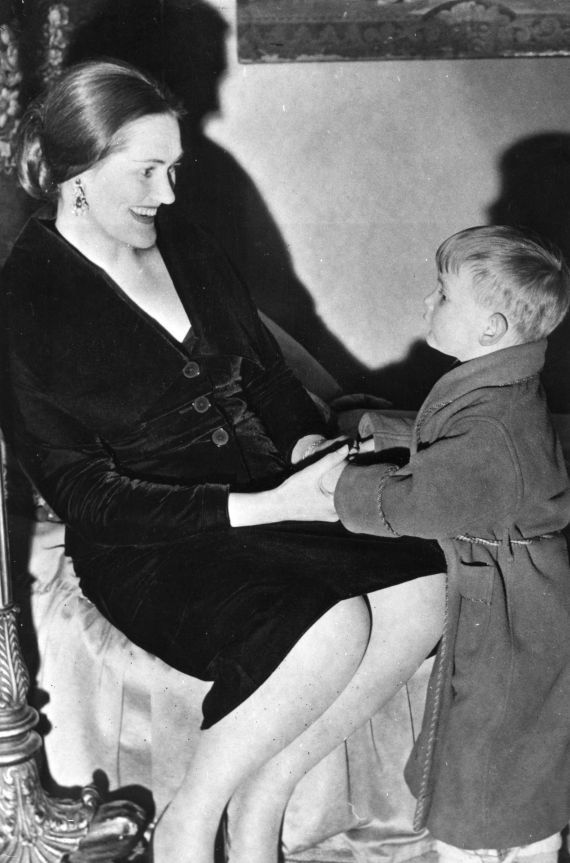 Joan Sutherland with her son, Adam. c.1960's