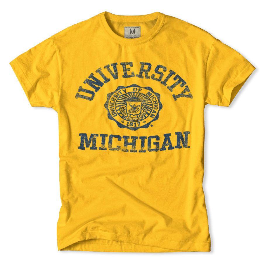 Design t shirt universiti - University Of Michigan T Shirt By Tailgate Clothing