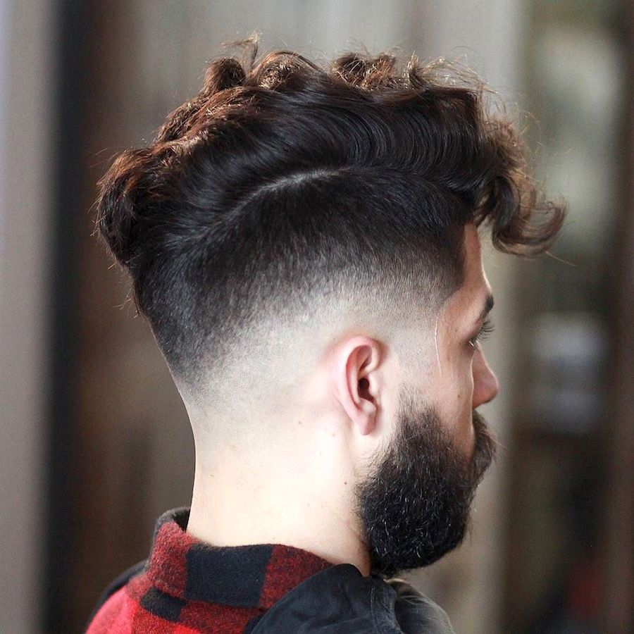new haircuts for men drop fade and messy hair