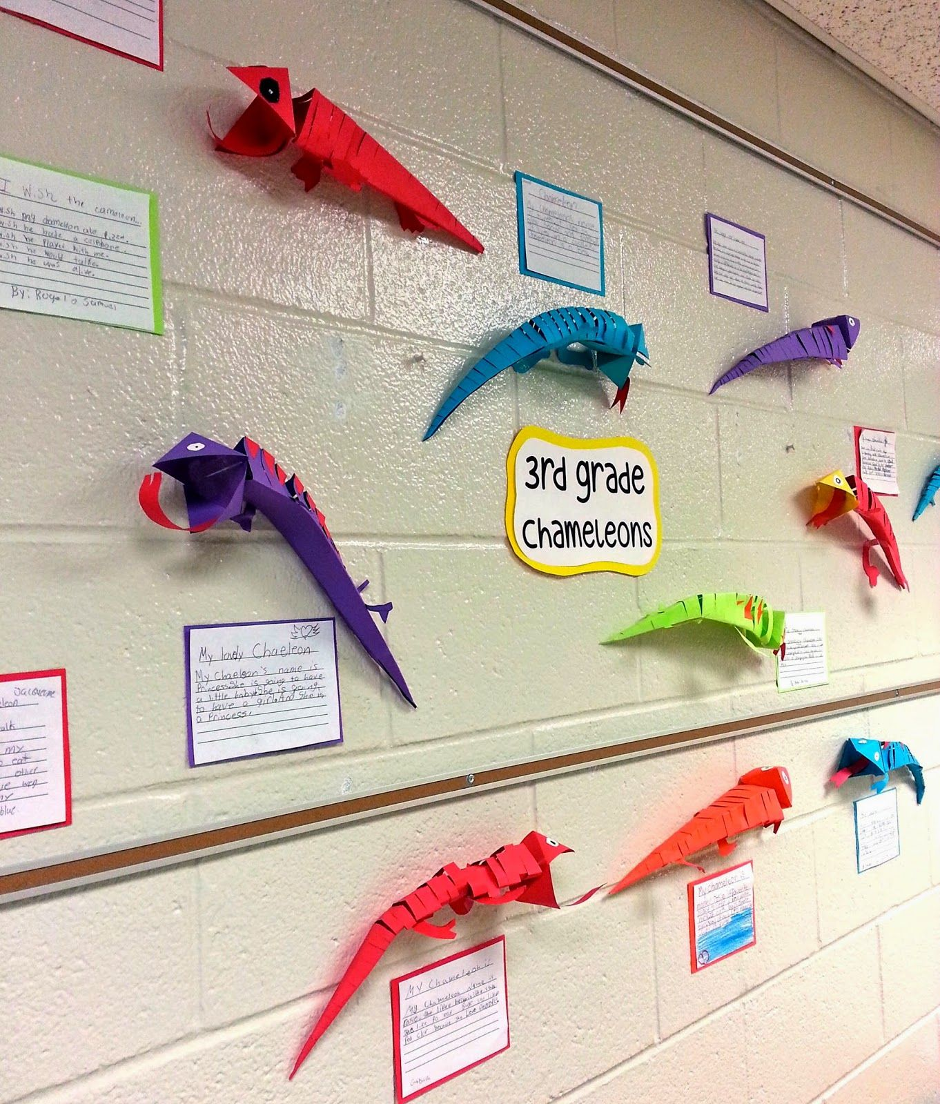 Wall Hanging Lesson Plan: Chameleons On The Wall!! (3rd)
