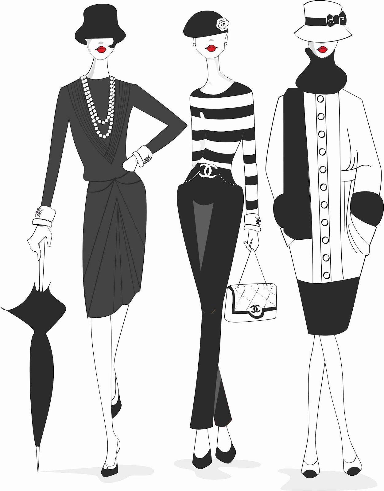 Bocetos De Moda Chanel Buscar Con Google Chanel Pinterest