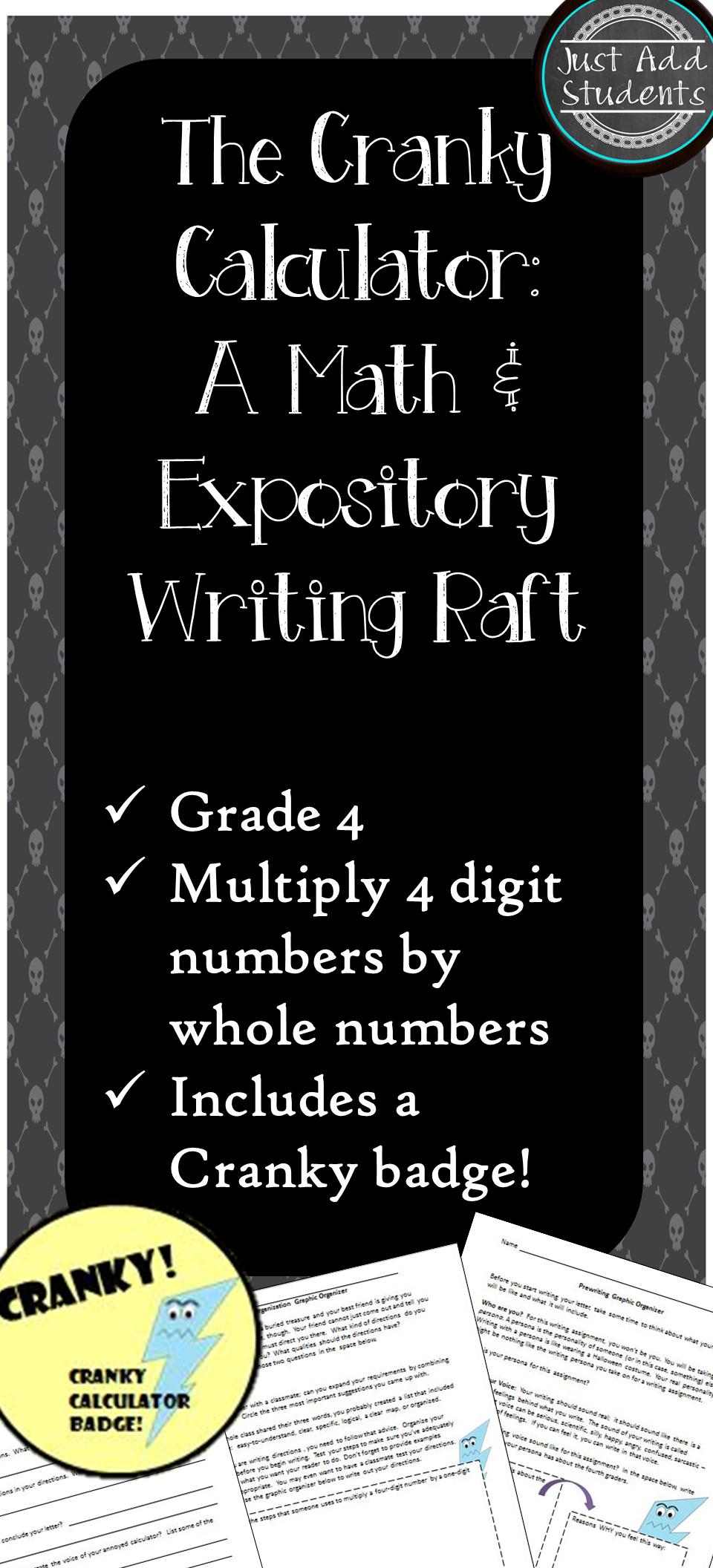 Expository Writing & Math RAFT Expository writing