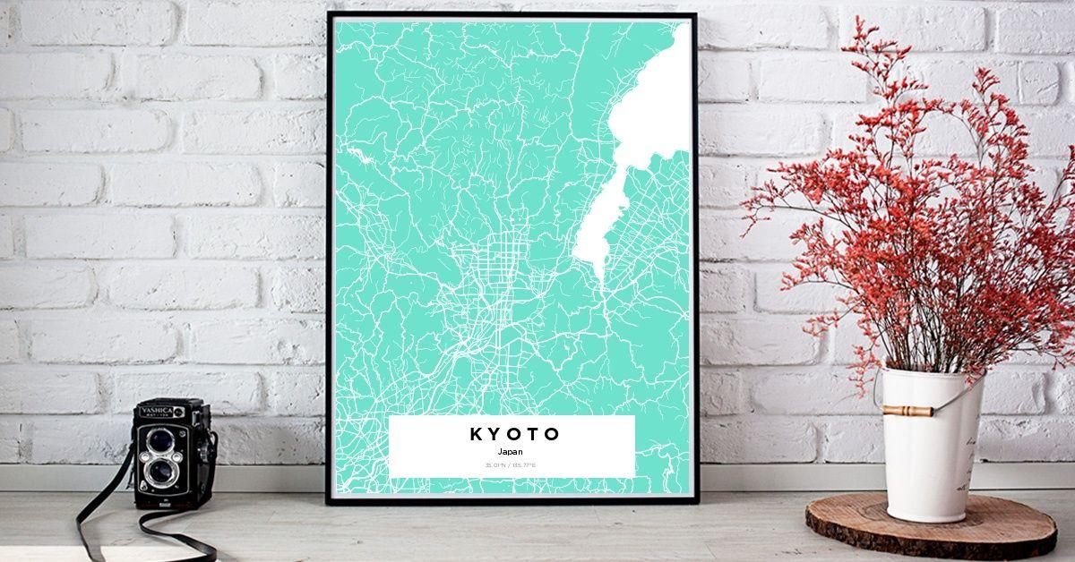 Kyotokyotokyoto Custom Map Maker Make Your Own Map Poster Online Yourownmaps Custom Map Custom Map Maker Map Wall Art