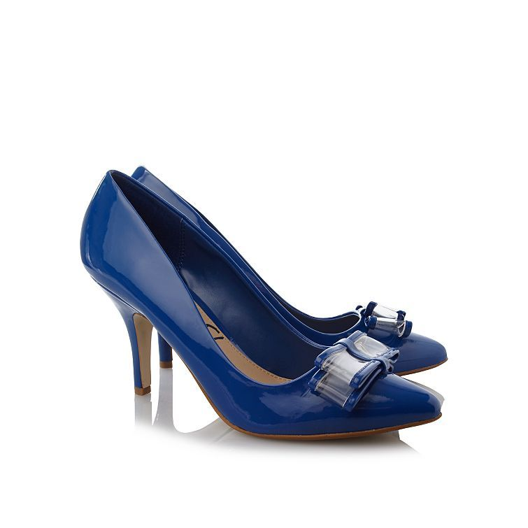 Patent Bow Shoes - Blue | Women | George at ASDA