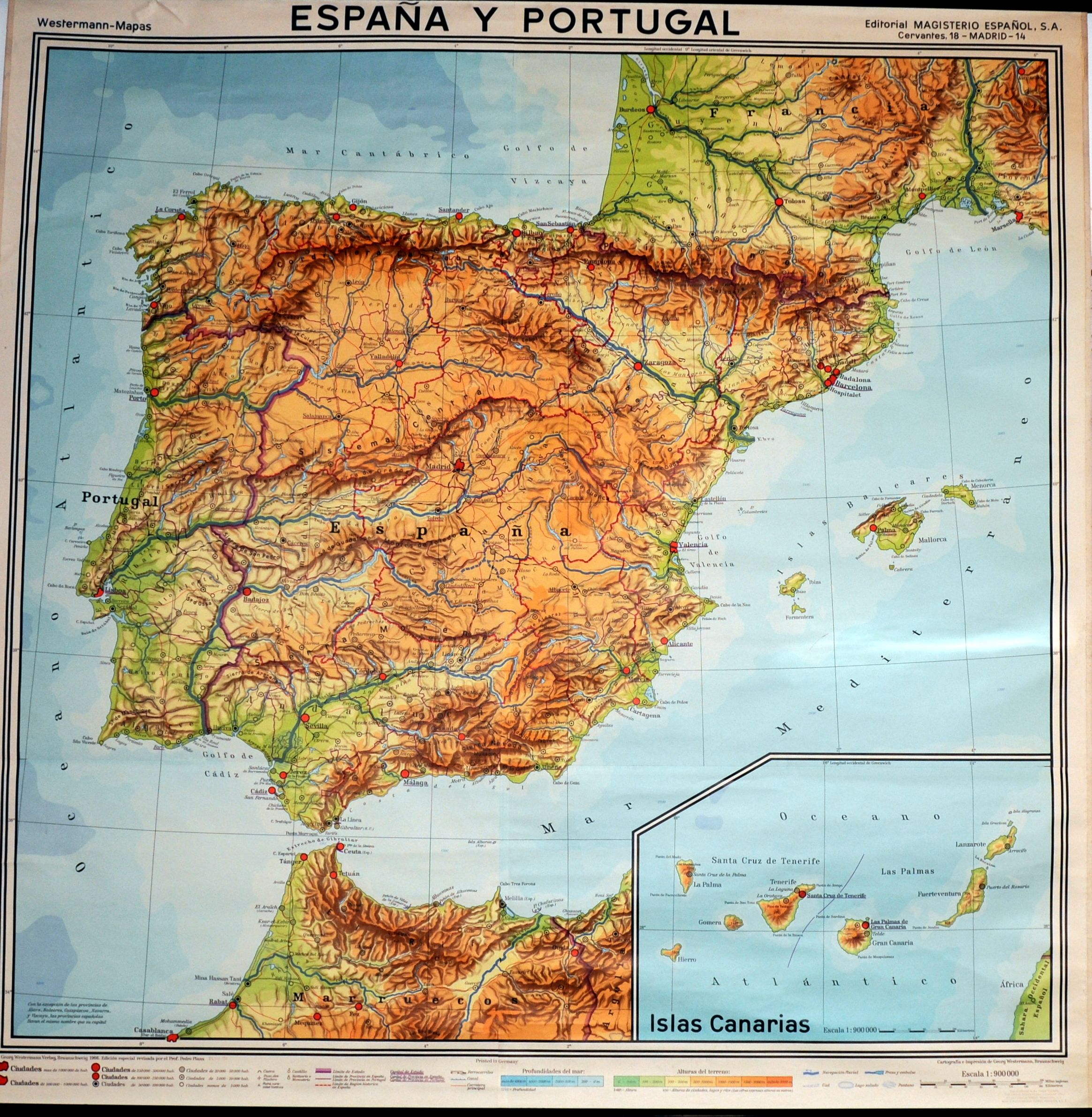 Spanish Map Of Spain.Old Spanish Map Of Spain Fjord Your Eyes Only Map Of Spain