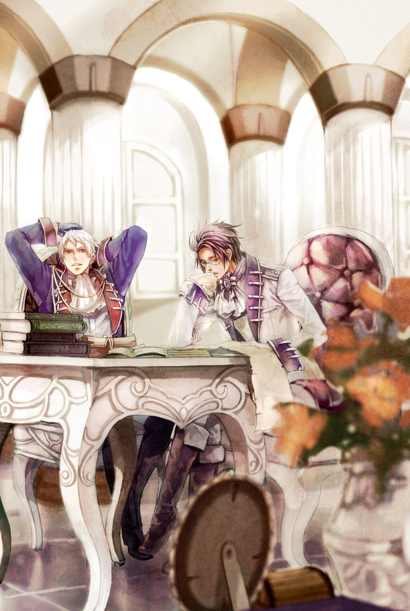 Gilbert and Roderich - Art by 乐 on Pixiv, found via Zerochan