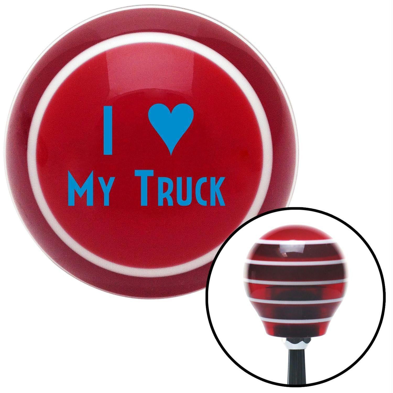 Blue I 3 MY TRUCK Red Stripe Shift Knob with M16 x 15 Insert