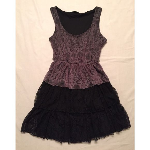 Black and Gray Dress Black & gray dress. Great condition! Dresses
