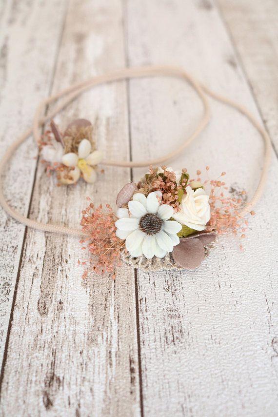 Floral Elastic Headpiece  Julia