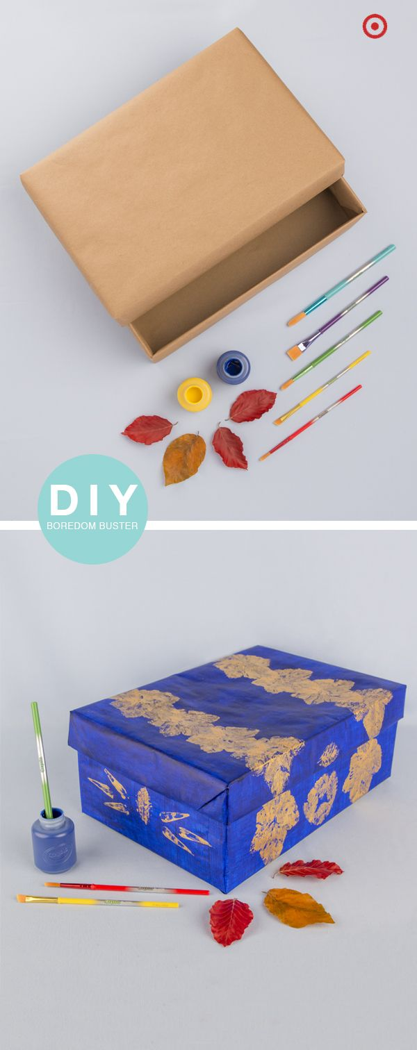 fashion this crayola craft from a shoe box recycled leaves and