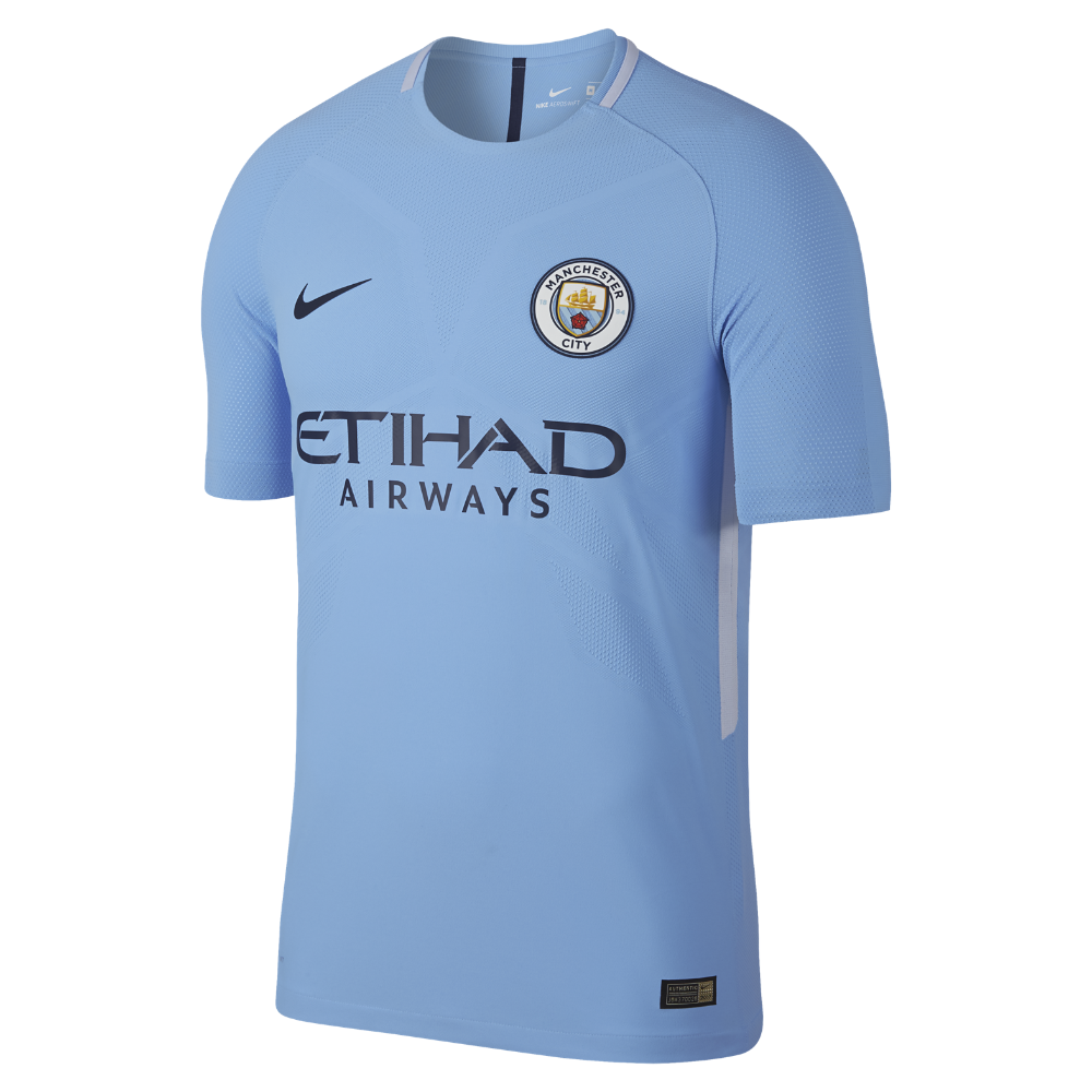 23f199dac Nike 2017 18 Manchester City FC Vapor Match Home Men s Soccer Jersey Size  Medium (Blue)