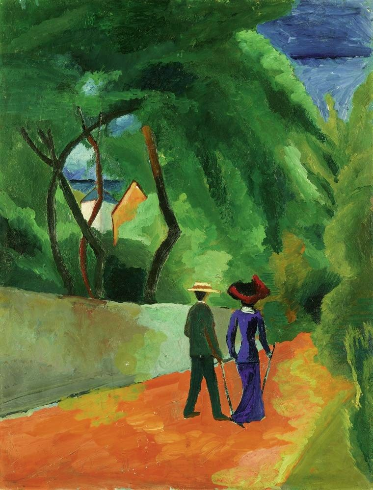 August Macke, The Red Road, 1914