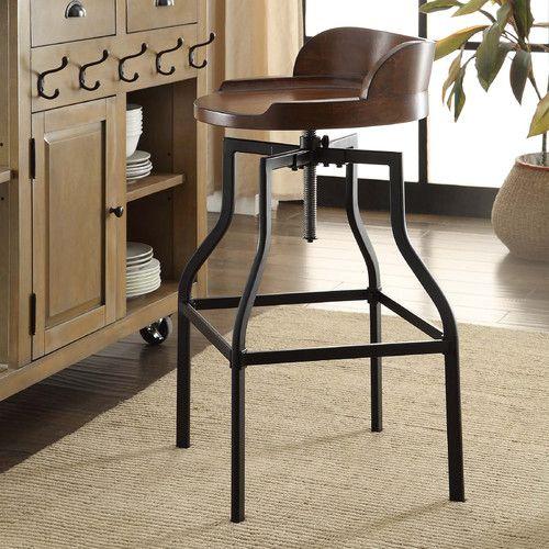 Essonnes Adjustable Height Swivel Bar Stool | New Kitchen | Pinterest