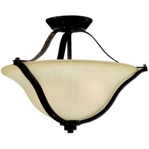 Kichler Lighting Kichler Semi-Flushmount Light in Canyon Slate Finish | 3681CST | Destination Lighting