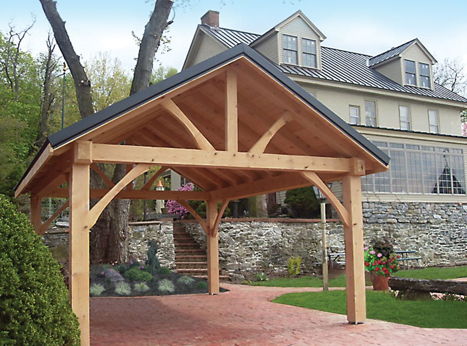 12x20 Pavilion Backyard Pavilion Timber Framing Outdoor Living