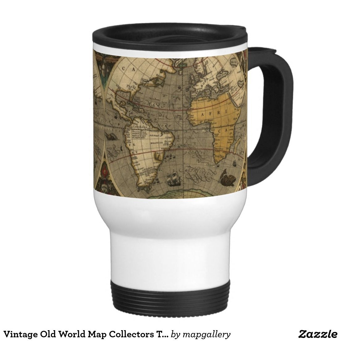 Vintage old world map collectors travel mug maps old and new vintage old world map collectors travel mug gumiabroncs