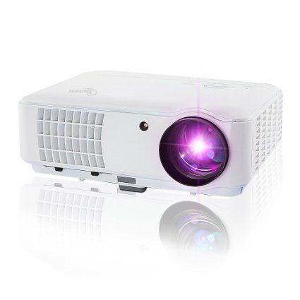 Taotaole 2600 Lumens Hd LCD LED Video Projectors Multimedia Home Projector with HDMI/USB/AV/VGA, 1280x800 Support 1080p